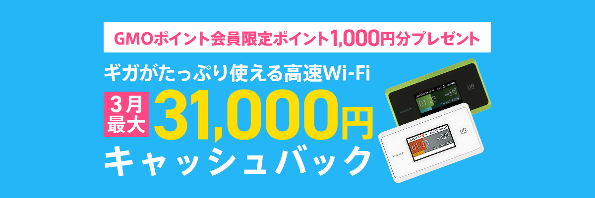 WiMAX 2+キャッシュバック